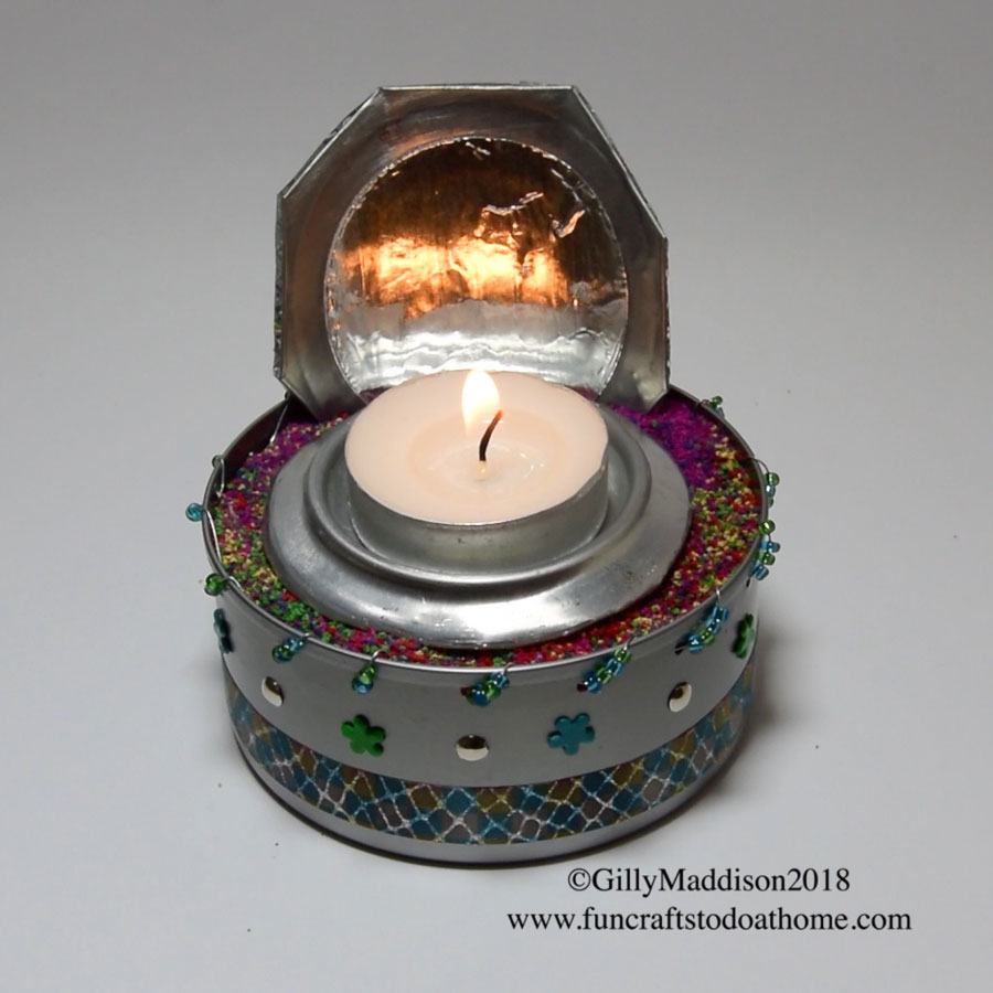 Picture of Cool Candle Holder From Recycled Metal