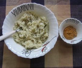 Gluten Free Garlic Rice With Chickpea Lentils Chutney