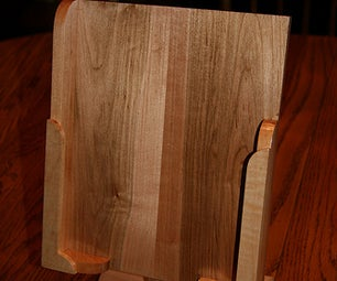 Wooden IPad Stand With Recycled Hard Drive Parts