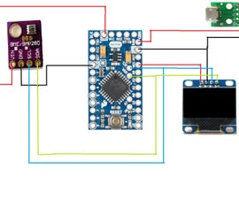 Simple Weather Station With BME280, Arduino and OLED Display