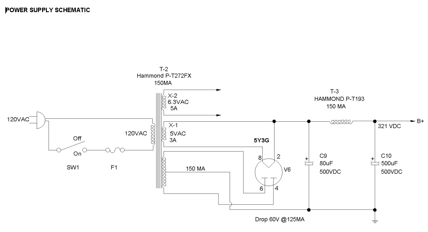Picture of Power Supply Schematic