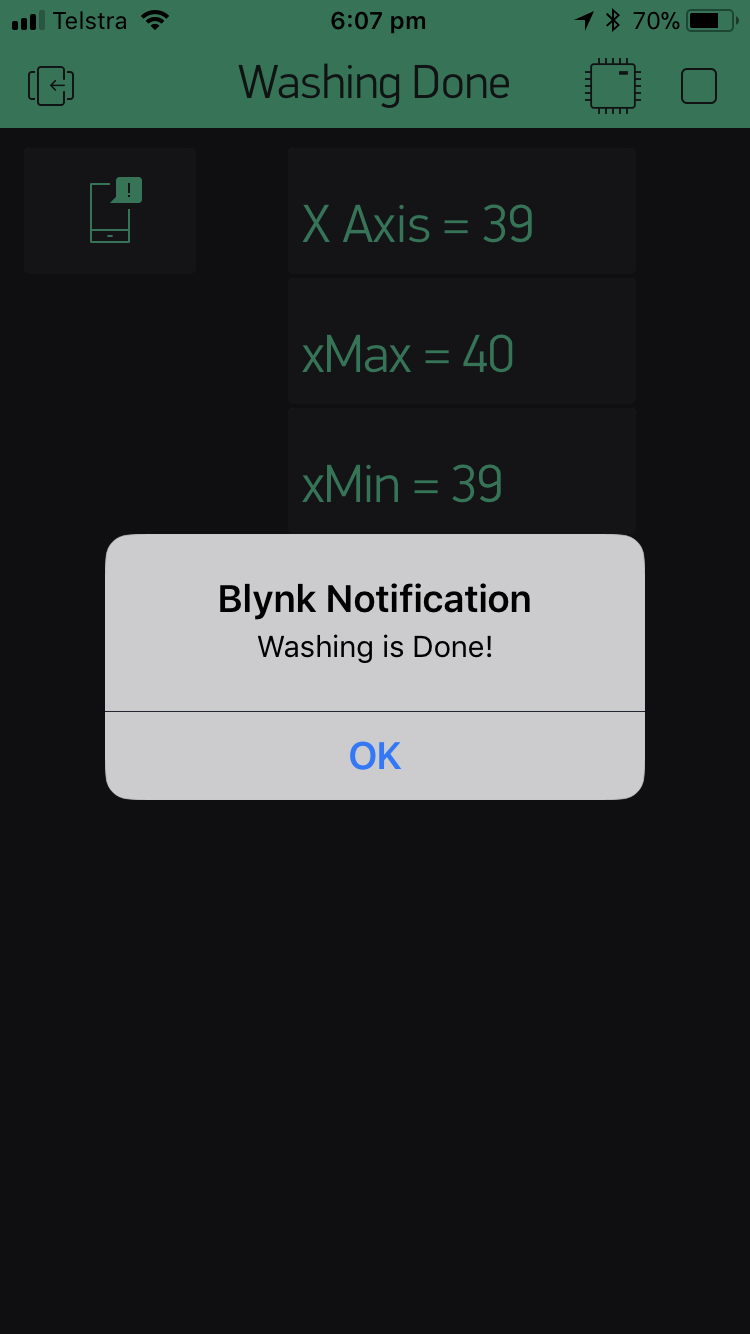 Picture of Arduino Washer Dryer Alert - Push Notification to Phone With Blynk