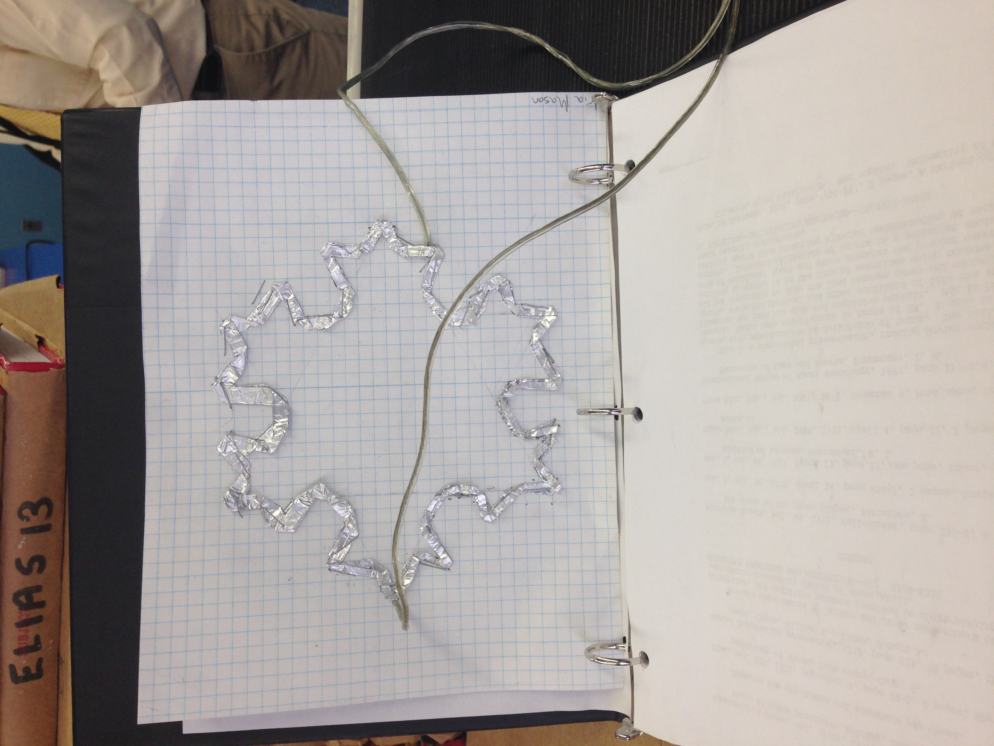 Picture of How to Sketch the Koch Snowflake (3 Iterations)