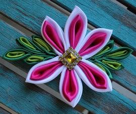 Kanzashi Flower Bow!