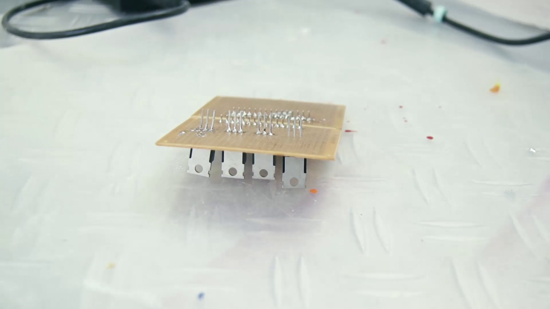 Picture of Perf Board & Mosfets