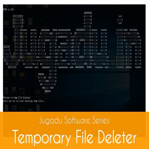 Picture of Temporary File Deleter Using Notepad.