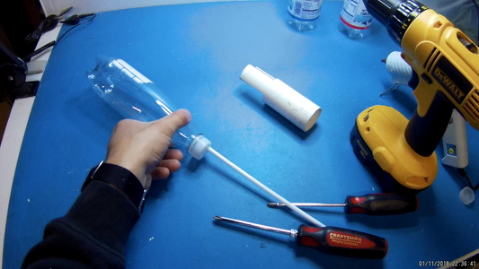 Construct Paint Sprayer Out of Plastic Bottle