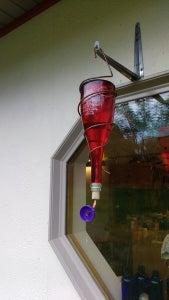 Easy Wine Bottle Hummingbird Feeder
