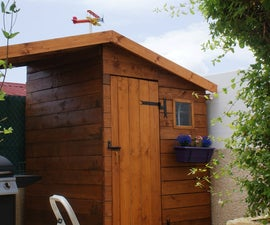 DIY - gardening shack with barbecue shelter