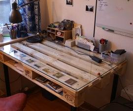 DIY Desk built with palette