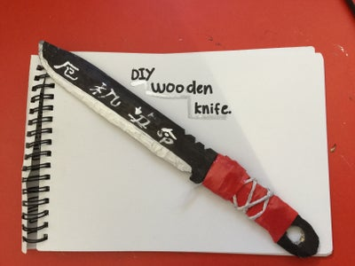 DIY Wooden Ruler Knife