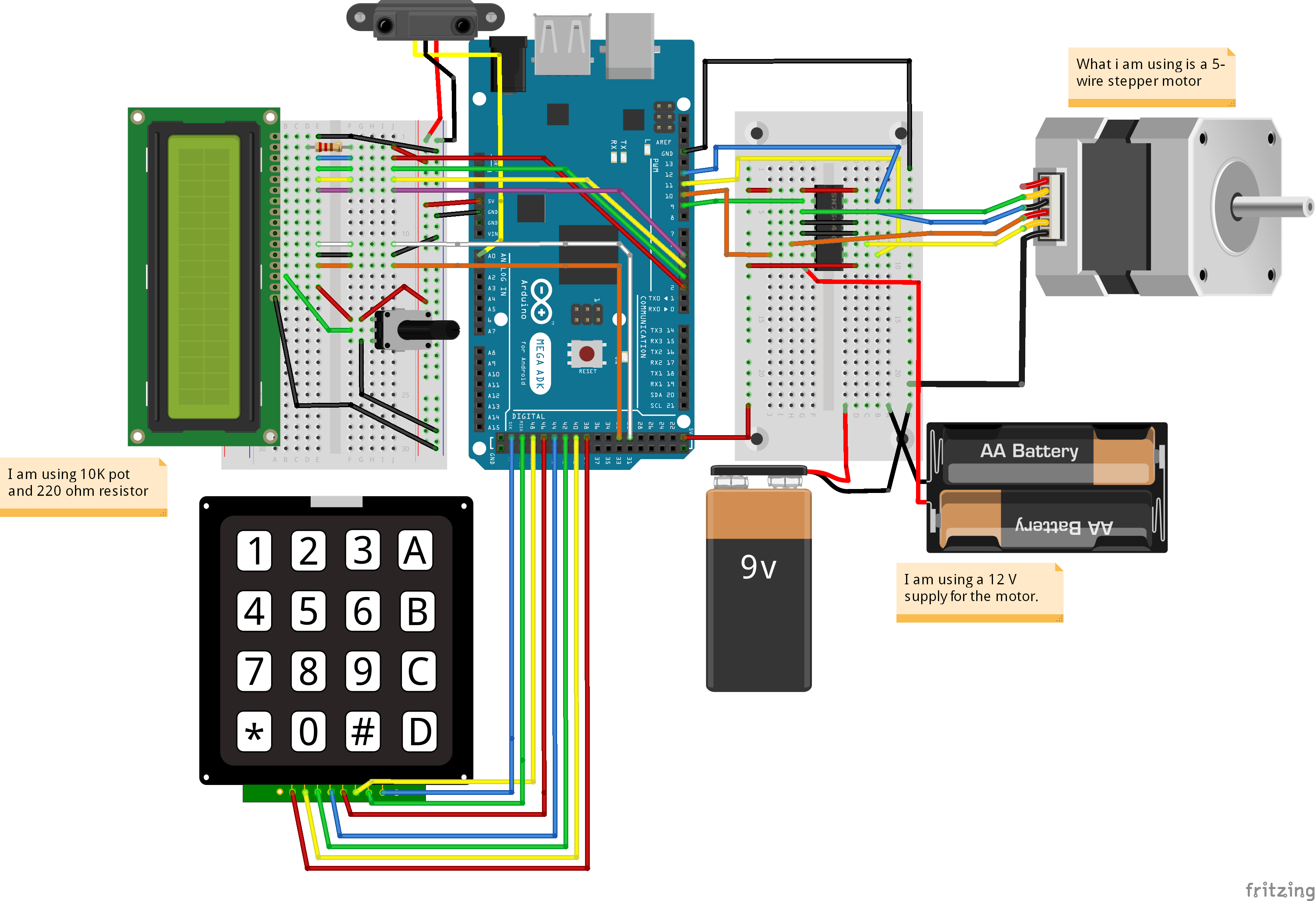 Picture of Autonomous Control of RPM of Engine Using Feedback System From a IR Based Tachometer