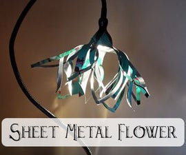 Sheet Metal Flower Lamp