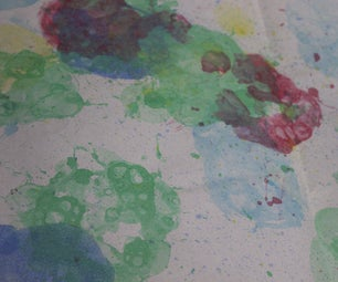 Using Bubbles to Print on Paper