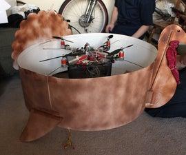 Huge Flying Quadcopter Turkey Drops Pumpkin Pies