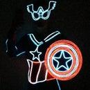 Mrs Captain America Glow Costume