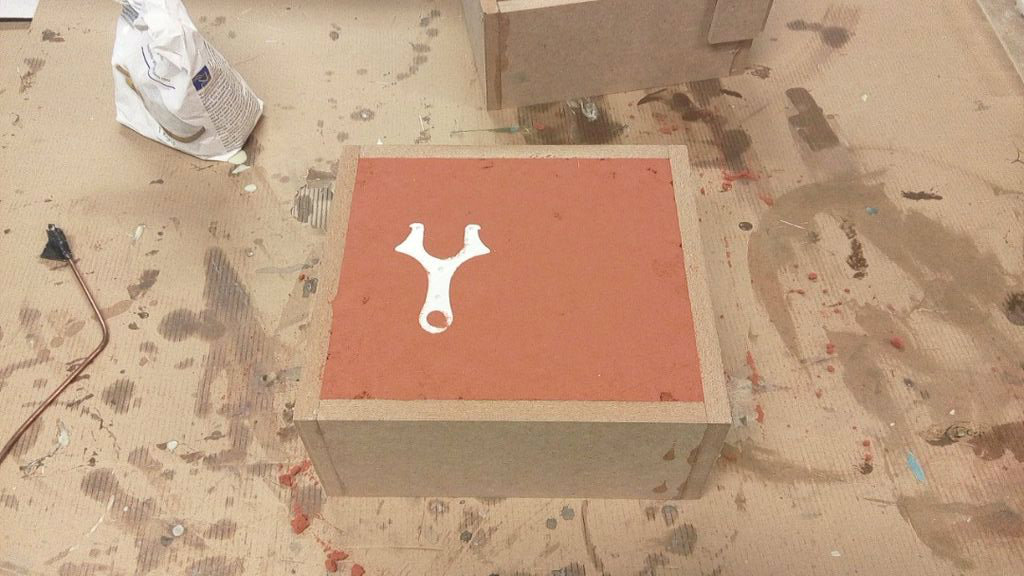 Picture of Pouring the First Casting Box-part