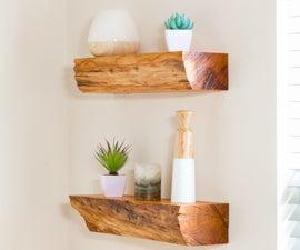 Turn Firewood Into Floating Shelves