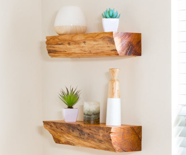 Turn Firewood Into Floating Shelves