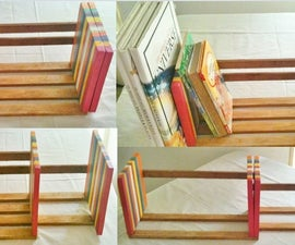 Adjustable Table Top Book Rack