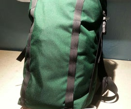 Sew a 20L Simple Roll Top Backpack Base With a Pocket for Frame, Can Make a Climbing, Weatherproof, Hiking, City Bag, or a Combo of These. (climbing Mod Shown)