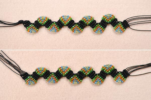 Picture of Weave the Adjustable Macramé Beaded Bracelets