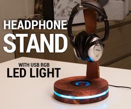 USB Headphone Stand With RGB LED Lighting