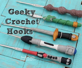 Geeky Crochet Hooks!  Made with Polymer Clay!