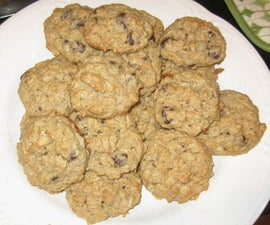 Healthy Chocloate Chip Oatmeal Cookies