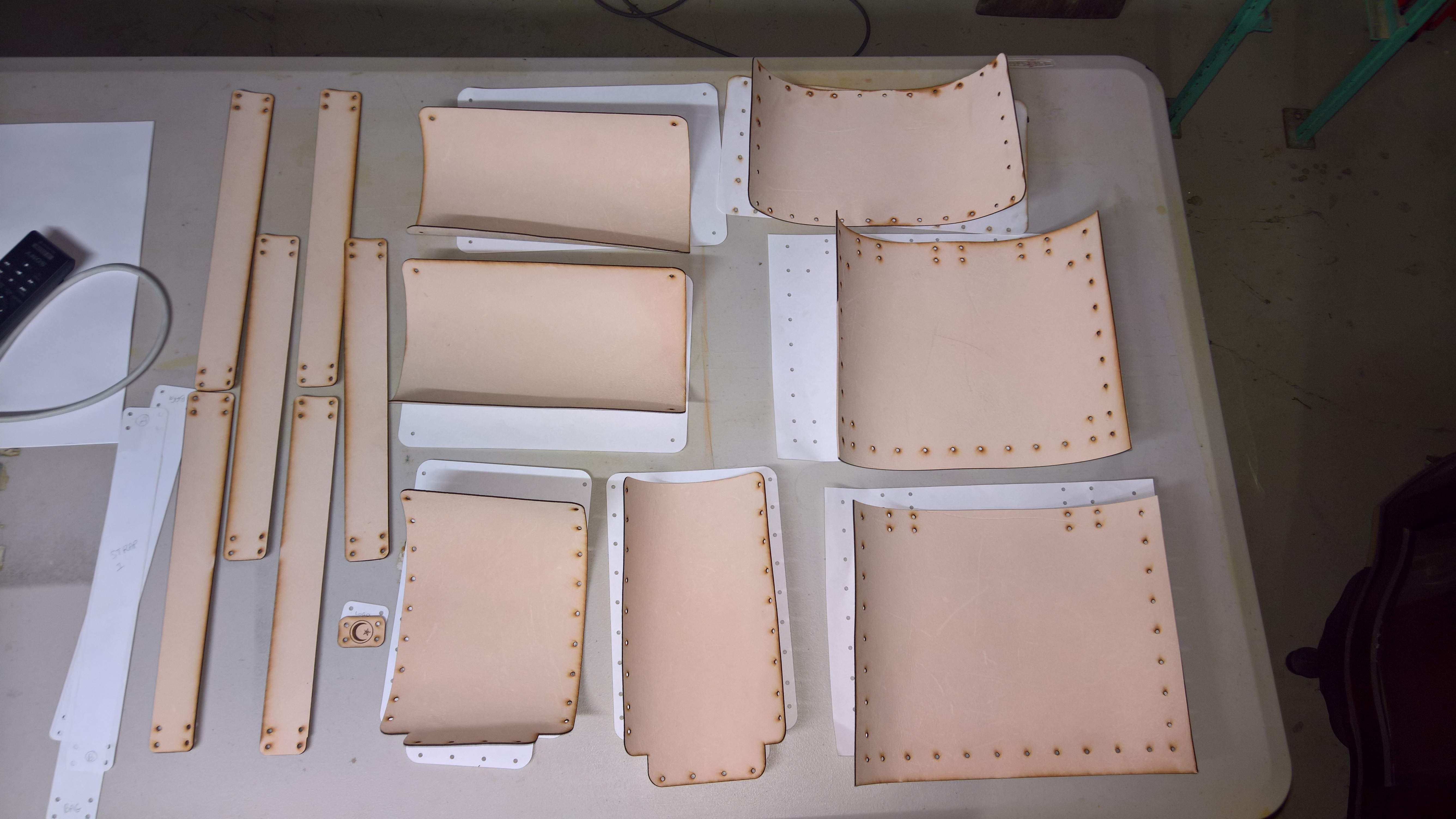 Picture of Cut Your Pattern Pieces From the Leather