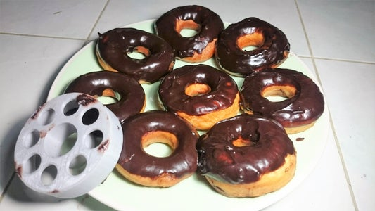 Easy Chocolate Donuts (3D Printed Donut Cutter!)