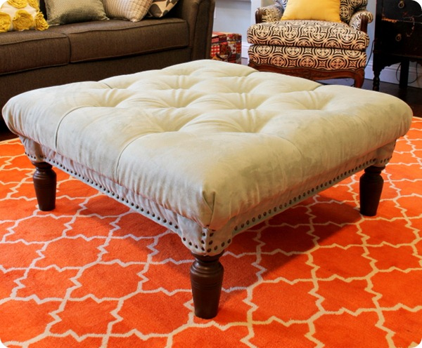 Picture of DIY Diamond Tufted Ottoman
