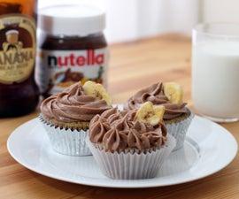 Banana Beer Nutella Cupcakes