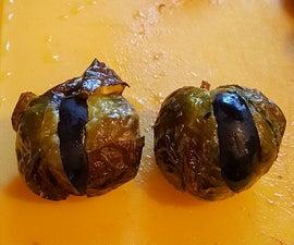 Spooky Eyes Brussel Sprouts Appetizer