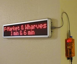 DIY Home LED transit sign