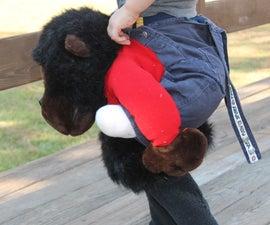 Easy Monkey Piggy-Back-Ride Costume!