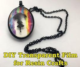 DIY Transparent Film for Resin Crafts