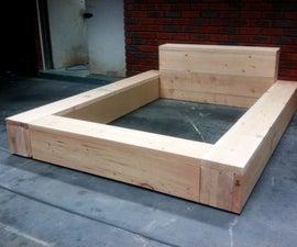 Sandblasted Oregon Low-Line Double Bed