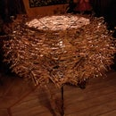 Lampshade Made of Grape Branches