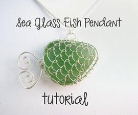 Sea Glass Fish Pendant Tutorial