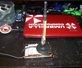 WiFi made into old Laptop hard drive!