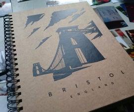 Portrait silhouette scrapbook cover