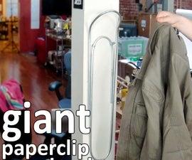 giant paperclip coat hook