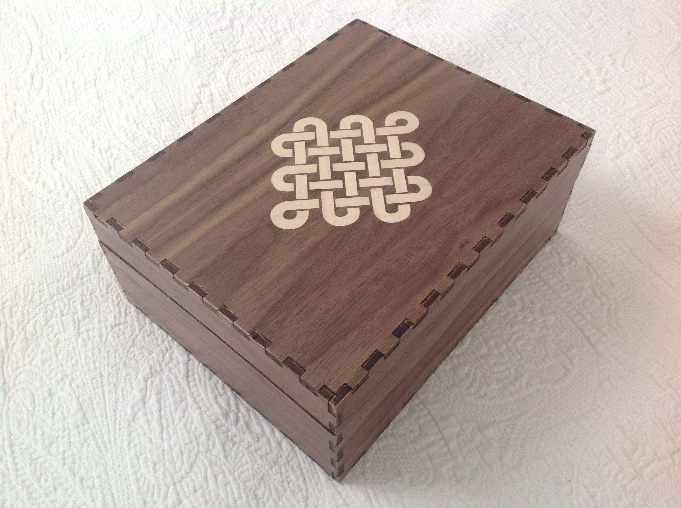 Picture of Laser Cut Box With Veneer Endless Knot Inlay