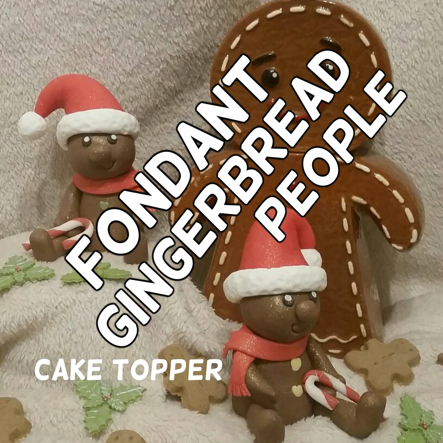Picture of Fondant Gingerbread People - Cake Toppers