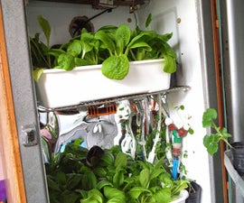 Automated hydroponic led indoor