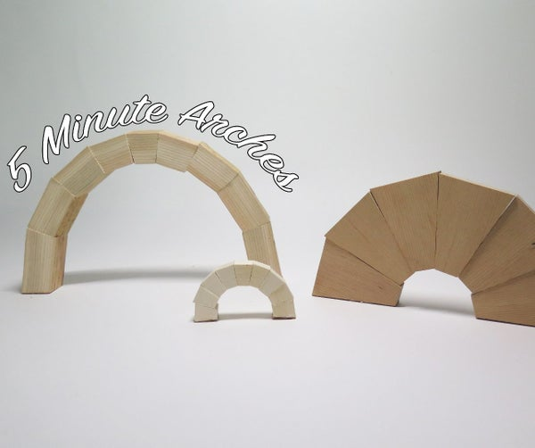 Wood Arch Blocks in 5 Minutes!