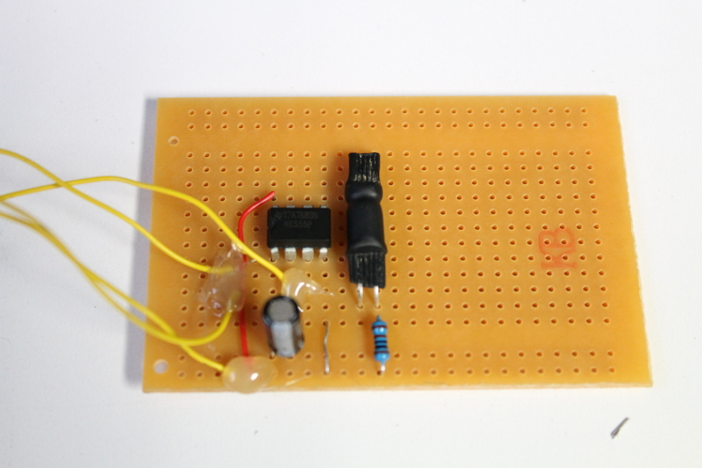 Picture of Building the Flashing LED Circuit