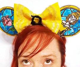 人造彩色玻璃米奇耳朵