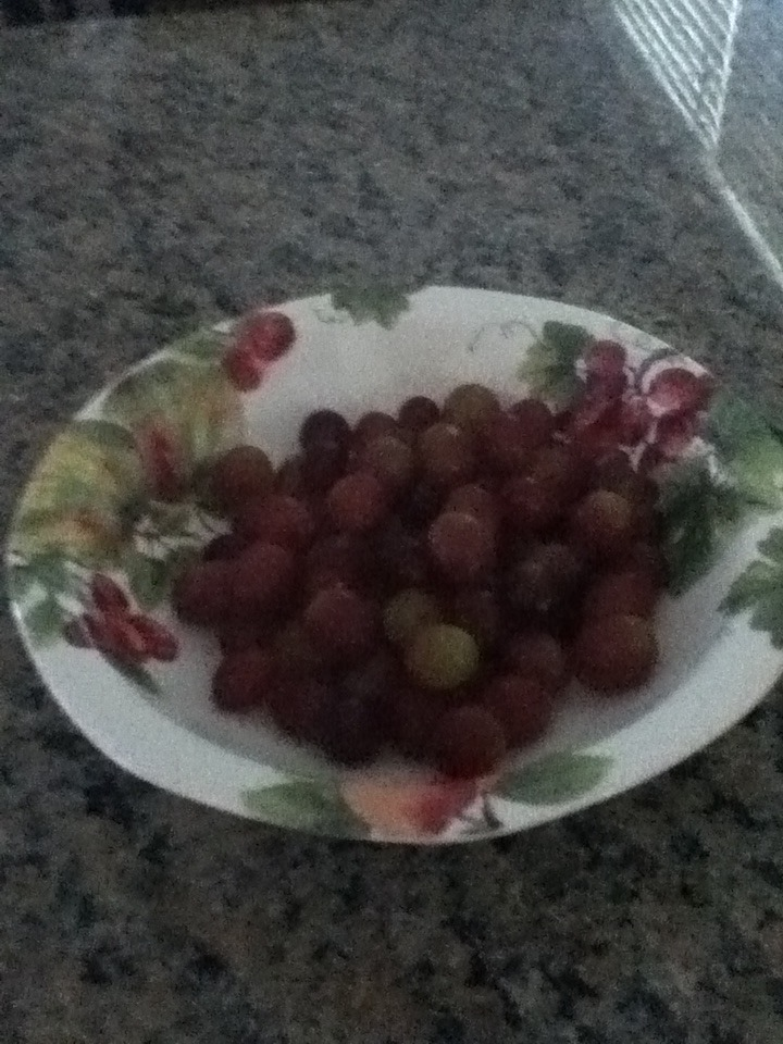 Picture of Put the Grapes Into a Bowl